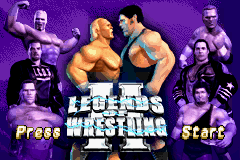 Legends of Wrestling II Title Screen