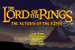 The Lord of the Rings - The Return of the King Title Screen