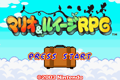 Mario & Luigi RPG Title Screen