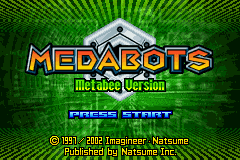 Medabots - Metabee Version Title Screen