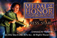 Medal of Honor - Underground Title Screen