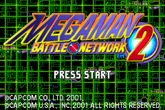 Mega Man Battle Network 2 Title Screen