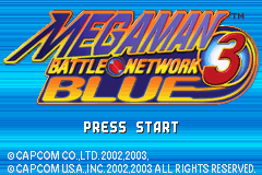 Megaman Battle Network 3 Blue Title Screen