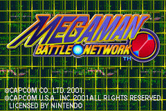 Mega Man Battle Network Title Screen