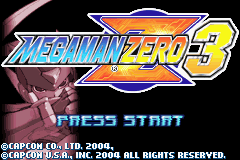 Megaman Zero 3 Title Screen