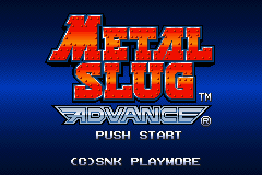 Metal Slug Advance Title Screen