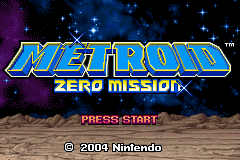 Metroid - Zero Mission Title Screen