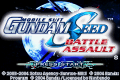 Mobile Suit Gundam Seed - Battle Assault Title Screen