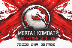 Mortal Kombat - Tournament Edition Title Screen