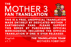 Mother 3 (english translation) Title Screen