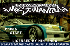 Need for Speed - Most Wanted Title Screen