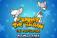 Pinky and the Brain - The Masterplan Title Screen