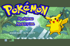 Pokemon Advanced Adventure Title Screen