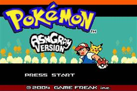 Pokemon Ash Gray (beta 2.5z) Title Screen