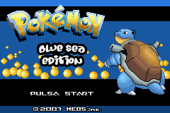 Pokemon Blue Sea Edition Title Screen