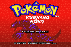 Pokemon Burning Ruby Title Screen