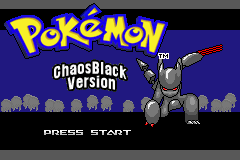 Pokemon Chaos Black Title Screen