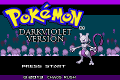 Pokemon DarkViolet (beta 2) Title Screen