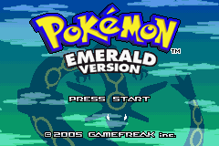 Pokemon Emerald 386 Title Screen