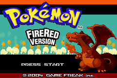 Pokemon Fire Red - Generations (v1.4) Title Screen