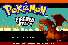 Pokemon Fire Red 3 in 1 Title Screen