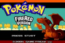Pokemon Fire Red Title Screen