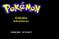 Pokemon Kohaku Adventures Title Screen