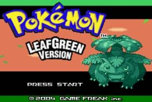 Pokemon Leaf Green Title Screen