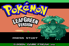 Pokemon Leaf Reborn  Title Screen