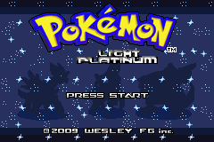 Pokemon Light Platinum Title Screen