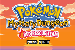 Pokemon Mystery Dungeon - Red Rescue Team Title Screen