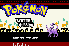 Pokemon Old White Title Screen