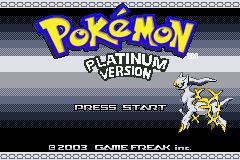 Pokemon Platinum Title Screen