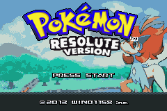 Pokemon Resolute (beta 2.2) Title Screen