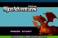 Pokemon Rijon Adventures Title Screen