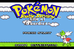 Pokemon Ruby Destiny - Life of Guardians Title Screen