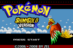 Pokemon Shiny Gold X Version Title Screen