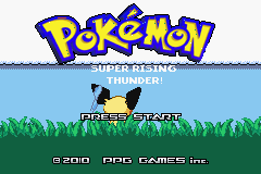 Pokemon Super Rising Thunder (alpha 2) Title Screen