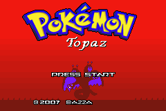 Pokemon Topaz Title Screen