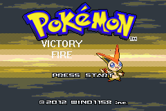 Pokemon Victory Fire (beta 1.75) Title Screen