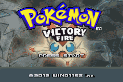 Pokemon Victory Fire (v1.91) Title Screen