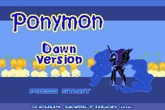 Ponymon Dawn (alpha 0.32) Title Screen