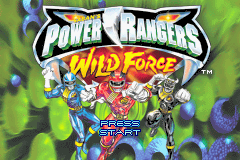 Power Rangers - Wild Force Title Screen
