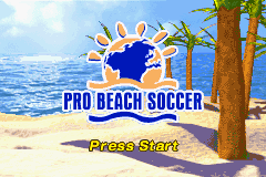 Pro Beach Soccer Title Screen