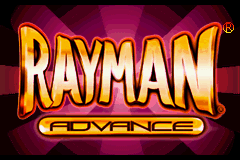 Rayman Advance Title Screen
