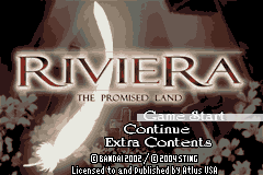 Riviera - The Promised Land Title Screen