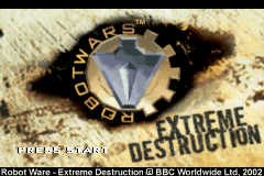 Robot Wars - Extreme Destruction Title Screen