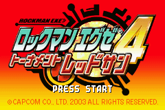 Rockman EXE 4 - Tournament Red Sun Title Screen