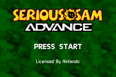 Serious Sam Advance Title Screen