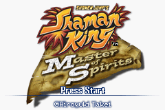 Shaman King - Master of Spirits Title Screen